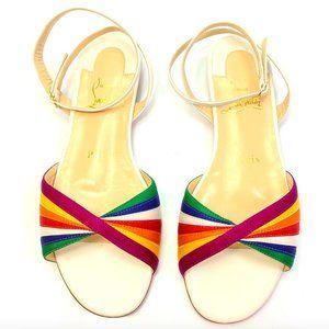 Christian Louboutin Naseeba Rainbow Sandals 34